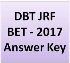 DBT JRF Answer Key 2017 pdf