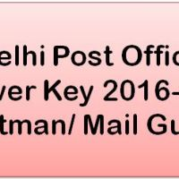 Delhi Post Office Answer Key