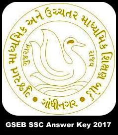 GSEB SSC 10th Answer Key 2018