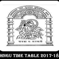 HNGU Time Table PDF