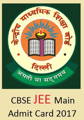 JEE Main Admit Card 2017