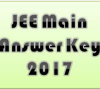 JEE Main Answer Key 2017 PDF