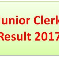 Junior Clerk Result 2017