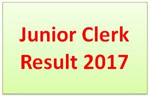 Junior Clerk Result 2017