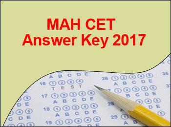 MAH CET Answer Key 2017