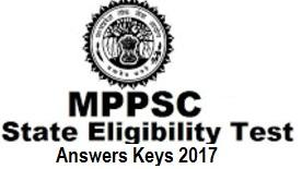 MP SET Answer Key 2017