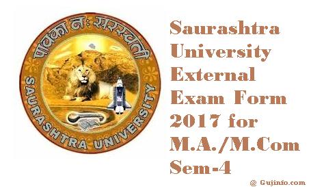 Saurashtra University Exam Form 2017