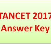 TANCET Answer Key 2017