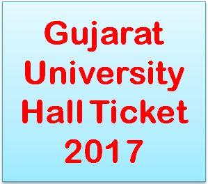 Gujarat University Hall Ticket 2017