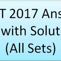 NEET 2017 Answer Key