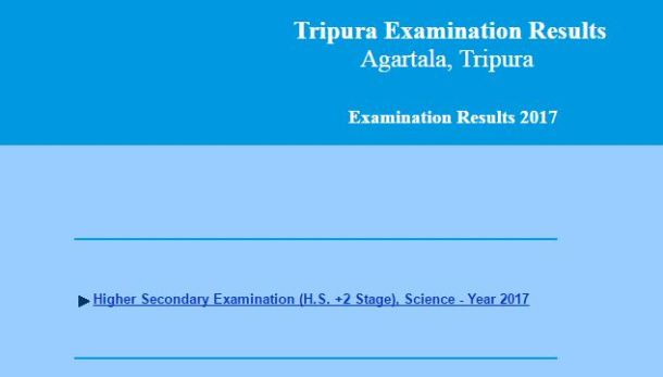 TBSE 12th Science Result 2017