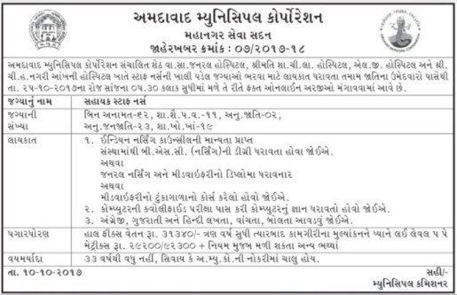 ahmedabadcity.gov.in recruitment