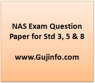NAS Exam Question Paper for Std 3, 5 & 8 Download Here