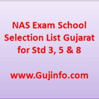 NAS Exam School Selection List Gujarat
