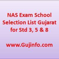 NAS Exam School Selection List Gujarat
