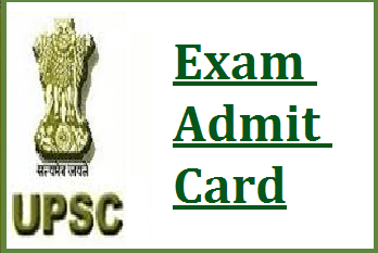 upsconline.nic.in Admit Card