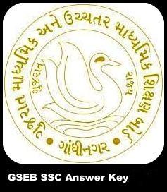 GSEB SSC 10th Answer Key 2019