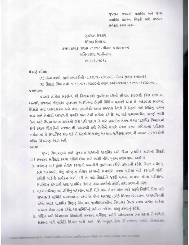 Gujarat Primary Teachers Exam