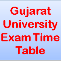 Gujarat University Exam Time Table 2018