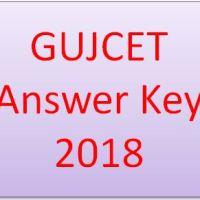 GUJCET Answer Key 2018