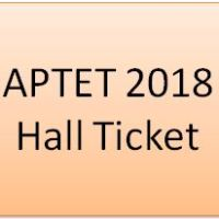APTET 2018 Hall Ticket