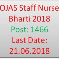OJAS Staff Nurse Bharti 2018