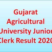 Gujarat Agricultural University Junior Clerk Result