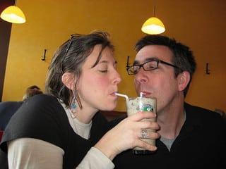 Partager un milkshake