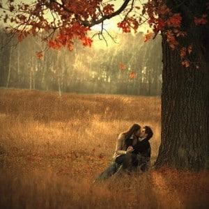 Couleur automne bisous