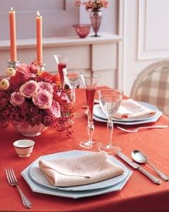 Décoration table romantique