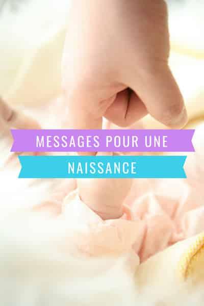 Message de naissance sur Pintesrest