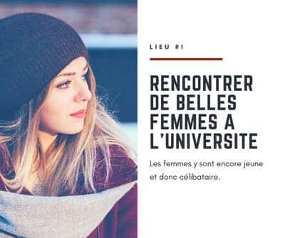 Rencontrer des femmes dans une université