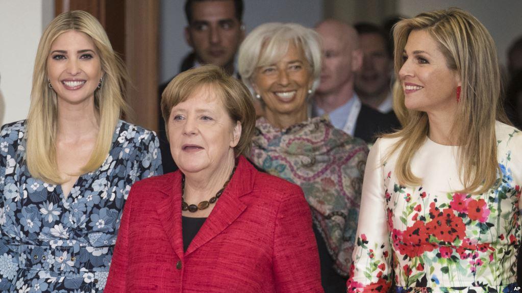 Berlin W20 Zirvesi Gülden Türktan, Ivanka Trump, Angela Merkel