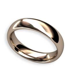 Elips handgjord slät ring i 18 k rött guld