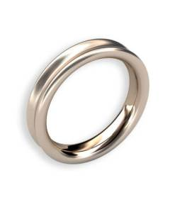 sidenmatt ring 18 k 4 mm