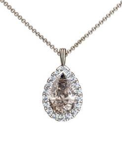 coffeyfärgad droppslipad diamant
