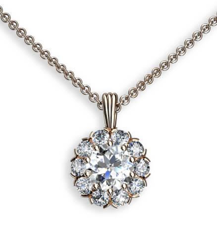 carmosering hängsmycke med diamanter