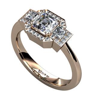 egen design av diamantring