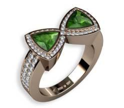 gröna turmaliner och diamanter