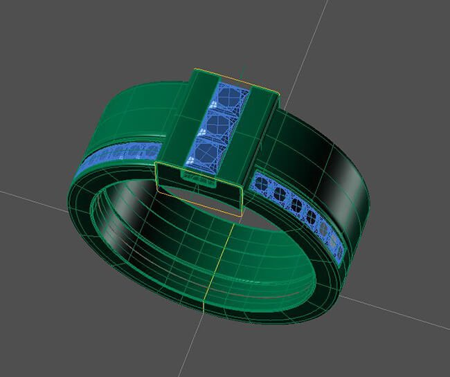 cad-skiss designad ring