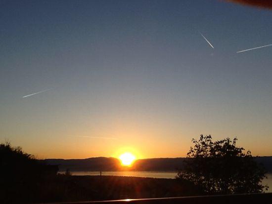 Solnedgang ved Geneve søen