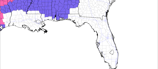 Winter Weather Advisory Issued for South and Central Mississippi, Alabama, Western Florida Panhandle; Winter Storm Warning for Harris, Liberty County