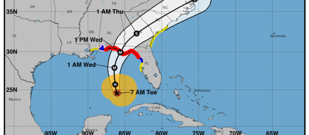 Michael to make Landfall Tomorrow Between Destin and Apalachicola as a Major Hurricane