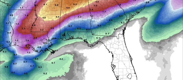 Multiple Waves of Heavy Rain for Parts of the South Next Week