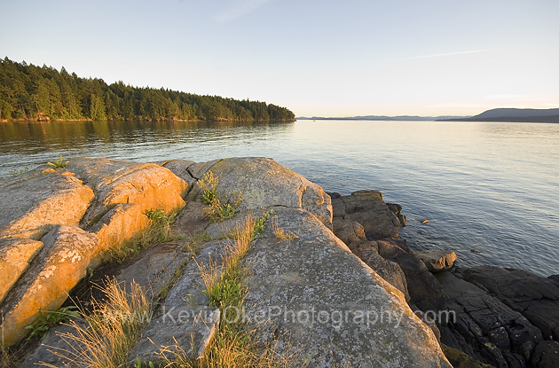 Sunset from the tip of Roe Islet at Roesland in the Gulf Islands National Park Reserve of Canada, North Pender Island, BCSunset at Roesland, North Pender Island