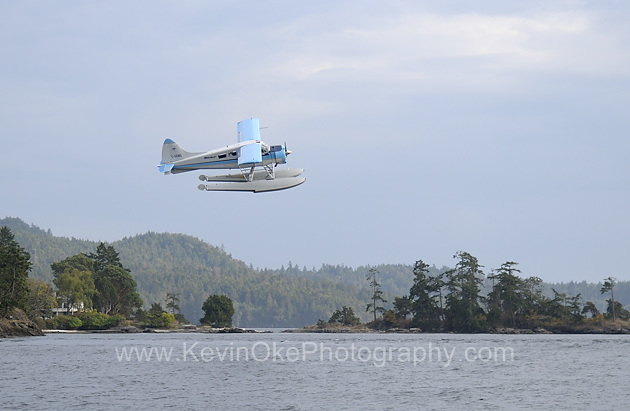 A Seair Dehavilland Beaver leaves Port Washington on a flight to the Lower Mainland, North Pender Island, Gulf Islands, British ColumbiaSeair Dehavilland Beaver leaving Port Washington, North Pender Island