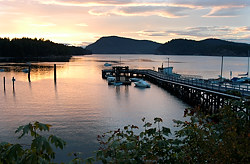 Miners Bay Sunset, Mayne Island, British Columbia