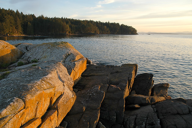 Looking south from Roesland, Gulf Islands National Park Reserve of Canada, North Pender Island