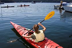 Kayaking in the Gulf Islands, British Columbia