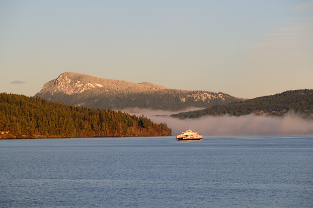 The BC Ferry Skeena Queen leaving Fulford Harbour in route to Swartz Bay on Vancouver Island